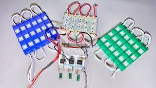 How To Make Three Color LED Controller Circuit At Home Easily