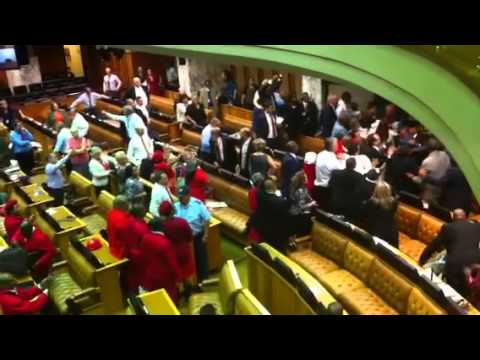 Chaos in South Africa's National Assembly