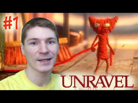 КОТЕНОК ЯРНИ из КРАСНЫХ НИТОК! Прохождение Unravel. #1