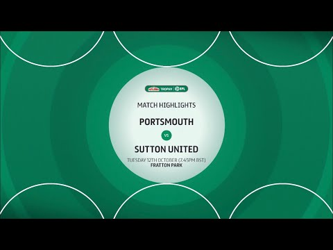Portsmouth Sutton Goals And Highlights