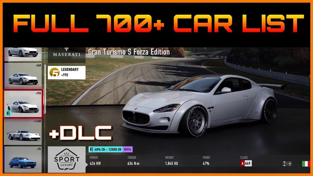 All Horizon Edition Cars Forza Horizon