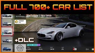 Full Car List | Forza 7 | 700 Cars + DLC, VIP & Forza Edition Cars!
