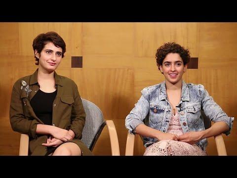 Aamir Khan's CUTE Daughters/Actress In Dangal Movie - Sanya Malhotra & Fatima Sheikh Interview