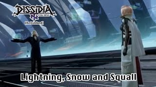 Lightning, Snow and Squall - Dissidia Final Fantasy NT [ReDubbed]