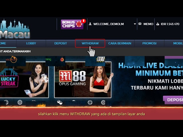 Tutorial Cara Withdraw di Lemacau