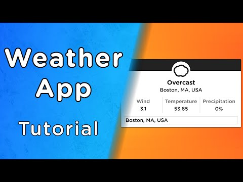 Build A Weather App With JavaScript