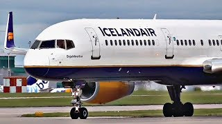INSANE ENGINE SOUND | Icelandair Boeing 757-200 ROARING TAKEOFF from Manchester Airport (MAN)