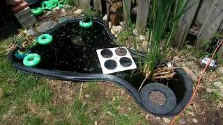 Aquaponic Hydroponic Soil Hybrid Microgarden with Ultrasonic, Drip System, Flood and Drain Watering