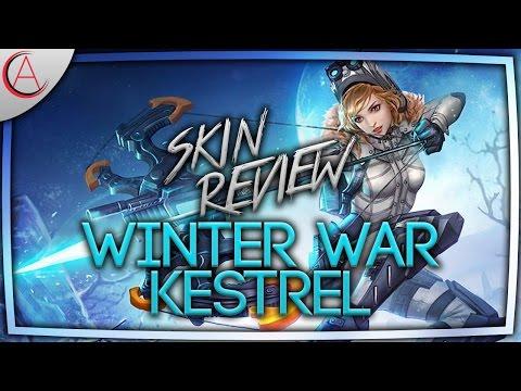 VAINGLORY SKIN REVIEW W/ 3D 🔸 WINTER WAR KESTREL SKIN FULL REVIEW *EVERYTHING SHOWN*