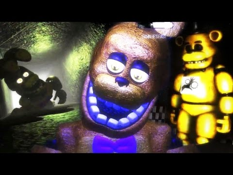CHASED BY SPRING BONNIE   Five Night At Fredbear's 3 (Free Roam Five Nights At Freddys)