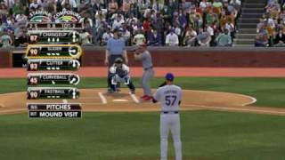 MLB 2K9 PC Gameplay PHI@NYM (Phillies VS Mets) 1st Top