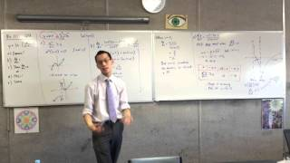 Graphing Log Function with Calculus (3 of 3: Sketching the Curve)