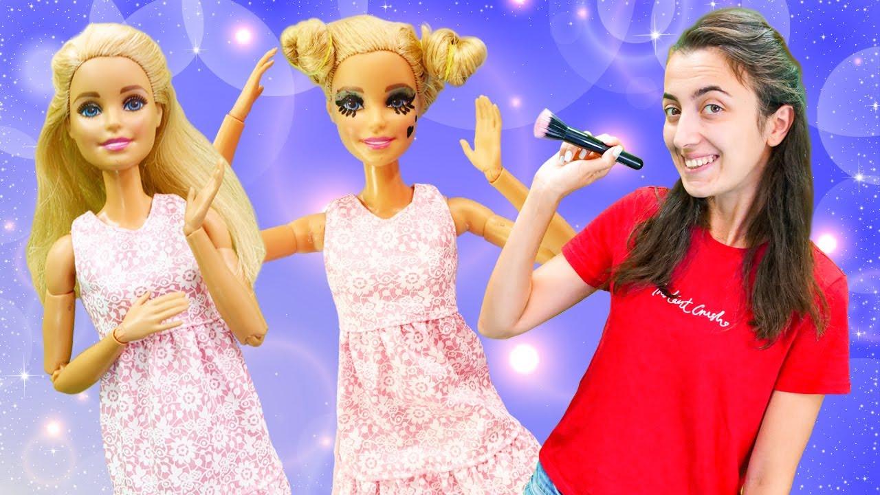 Hayal Ailesi. Barbie Monster High kuaförüne gidiyor! Eğlenceli video