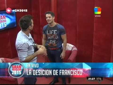"""""""Gran Hermano 2015"""": Fernando ingresó al Cuarto Rojo para convencer a Fran de quedarse en La Casa"""