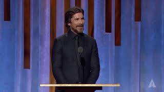 Christian Bale Honors Wes Studi At The 2019 Governors Awards