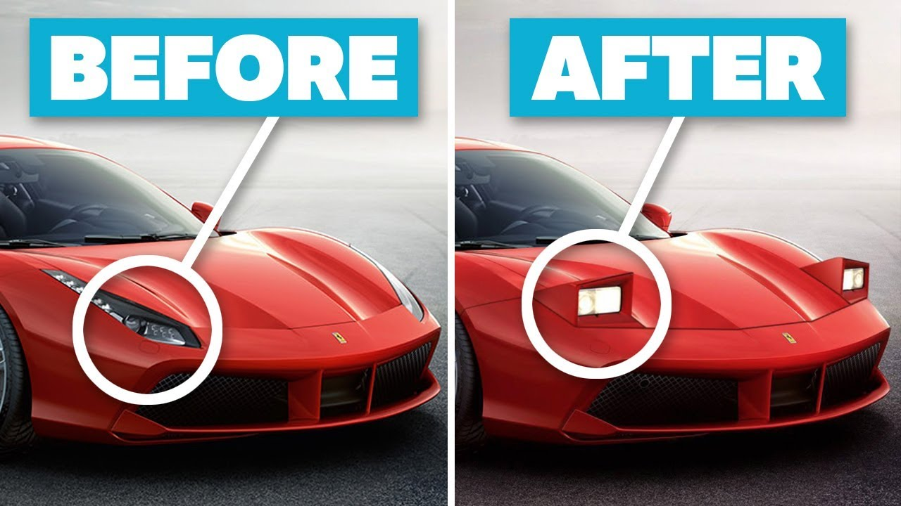 Modern Sports Cars Made Insanely Cool With PopUp Headlights - Modern sports cars