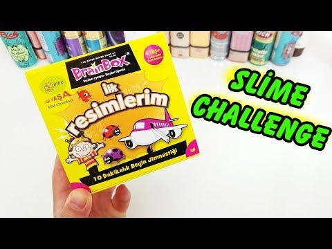 İlk Resimlerim Slime Challenge - Çark Slaym - Eğlenceli Oyun Videosu