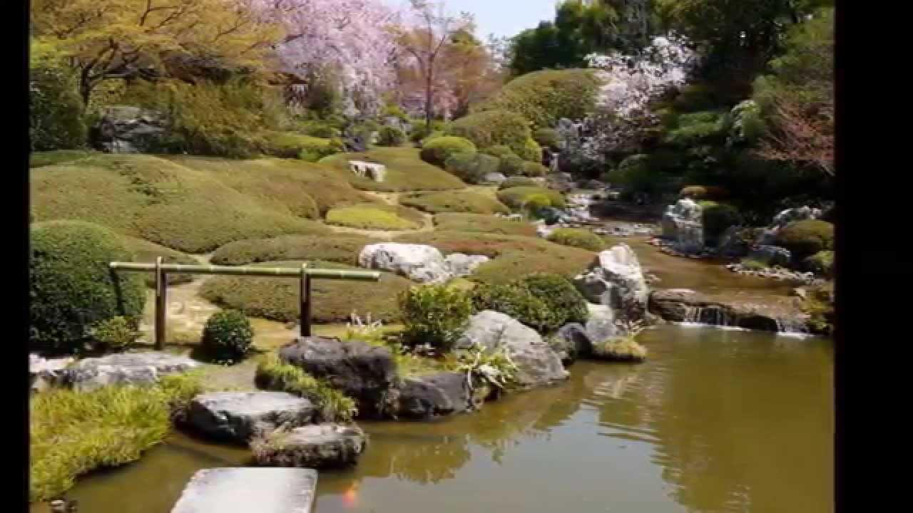 Zen gardens in Kyoto Japan 1 (meditation music relax) - YouTube