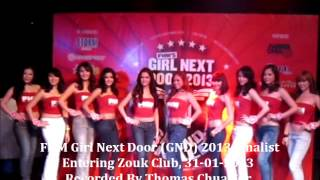 Caroline Fong - FHM Girl Next Door (GND) 2013 Finalist Entering Zouk Club