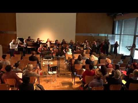 Sound exercise with violin improvisation by Mike Hoover