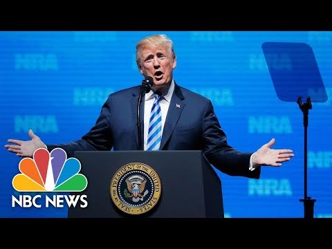 Watch Live: Trump addresses NRA's annual convention in Dallas