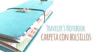Cómo hacer una carpeta con bolsillos para Traveler's Notebook - TUTORIAL DIY