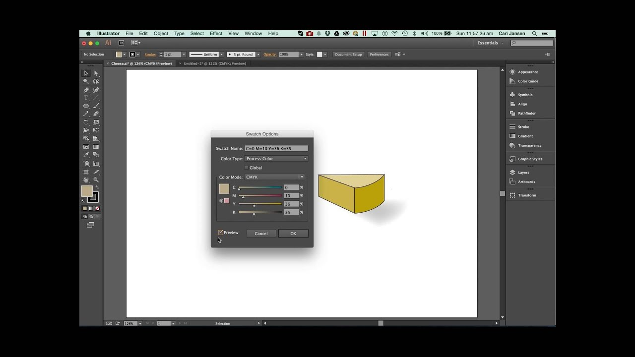 How to create a tint for a swatch colour in Adobe Illustrator