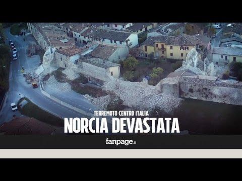 Terremoto, ecco cosa resta di Norcia dopo il sisma