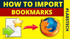 How to Import Bookmarks in Mozilla FireFox - COPY BOOKMARKS CHROME TO FIREFOX