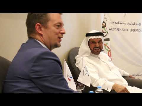 الدكتور عبد الرزاق بني رشيد يستقبل رئيس اللجنة البارالمبية الدولية أندرو بارسونز