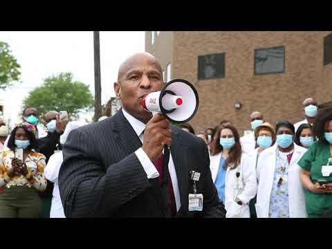 Darrell Terry \u0026 Newark Beth Israel Medical Center Observes 8min \u0026 46sec Of Silent Reflection