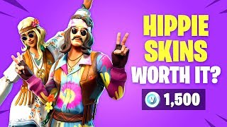 *NEW* HIPPIE SKINS Worth it? Far Out Man & Dreamflower - New Fortnite Item Shop