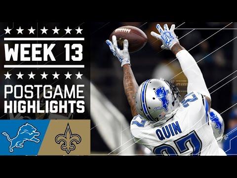 Lions vs. Saints   NFL Week 13 Game Highlights
