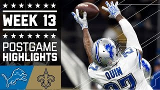 Lions vs. Saints | NFL Week 13 Game Highlights