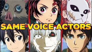 Demon Slayer Kimetsu no Yaiba All Characters Japanese Dub Voice Actors Seiyuu Same Anime Characters