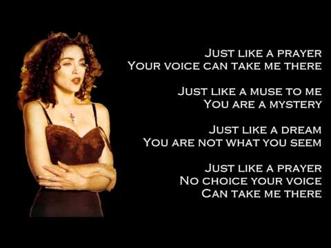 Madonna  Like A Prayer Lyrics On Screen