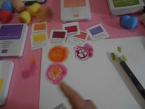 Stampin' Up! Basic Ink Colors for Flowers Challenge