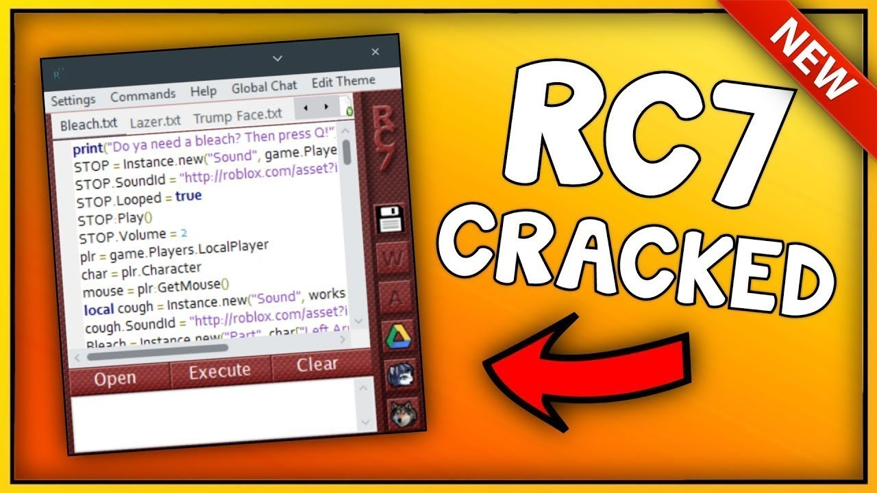 New Roblox Exploit Rc7 Cracked Patched Unrestriced Level 7