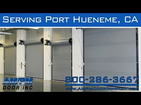 Port Hueneme Roll Up Security Fire Dock Lock Glass Door Repair