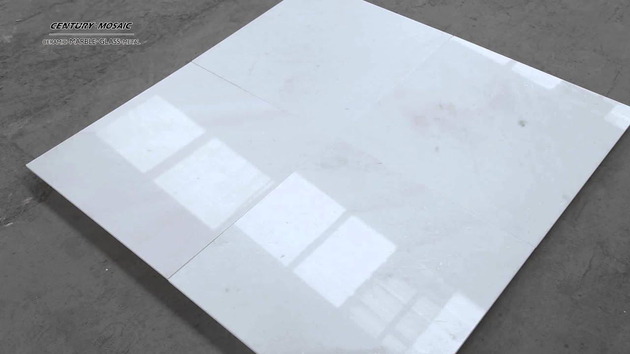 Century Mosaic-24\'\'x24\'\' polished bianco diamante white marble tiles ...