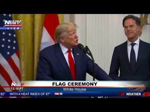 FULL FLAG CEREMONY: President Trump, Dutch Prime Minister Mark Rutte at the White House
