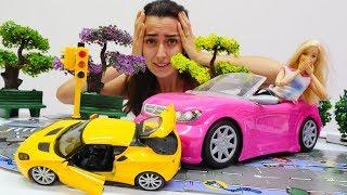 Uykusuz Barbie kaza yaptı Trafik oyunu