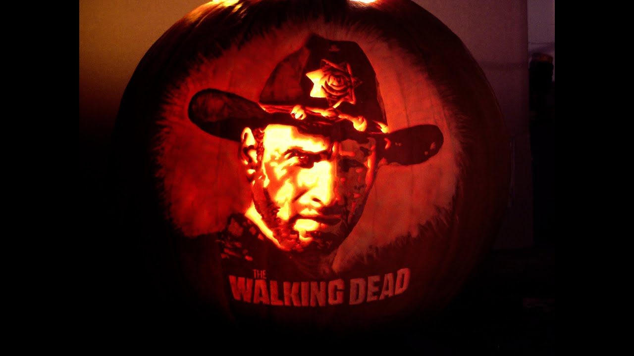 Walking dead pumpkin time lapse youtube