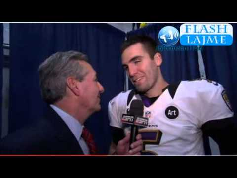 Super Bowl MVP Joe Flacco Interviews for ESPN