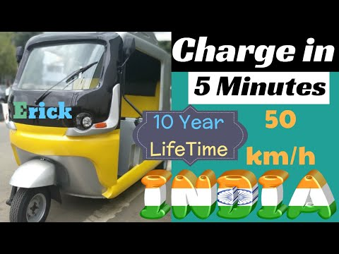 5 Minutes Charge Electric Auto in India | UltraCapacitor Battery