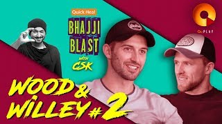 Mark Wood & David Willey Part 2   Quick Heal Bhajji Blast With CSK   QuPlayTV