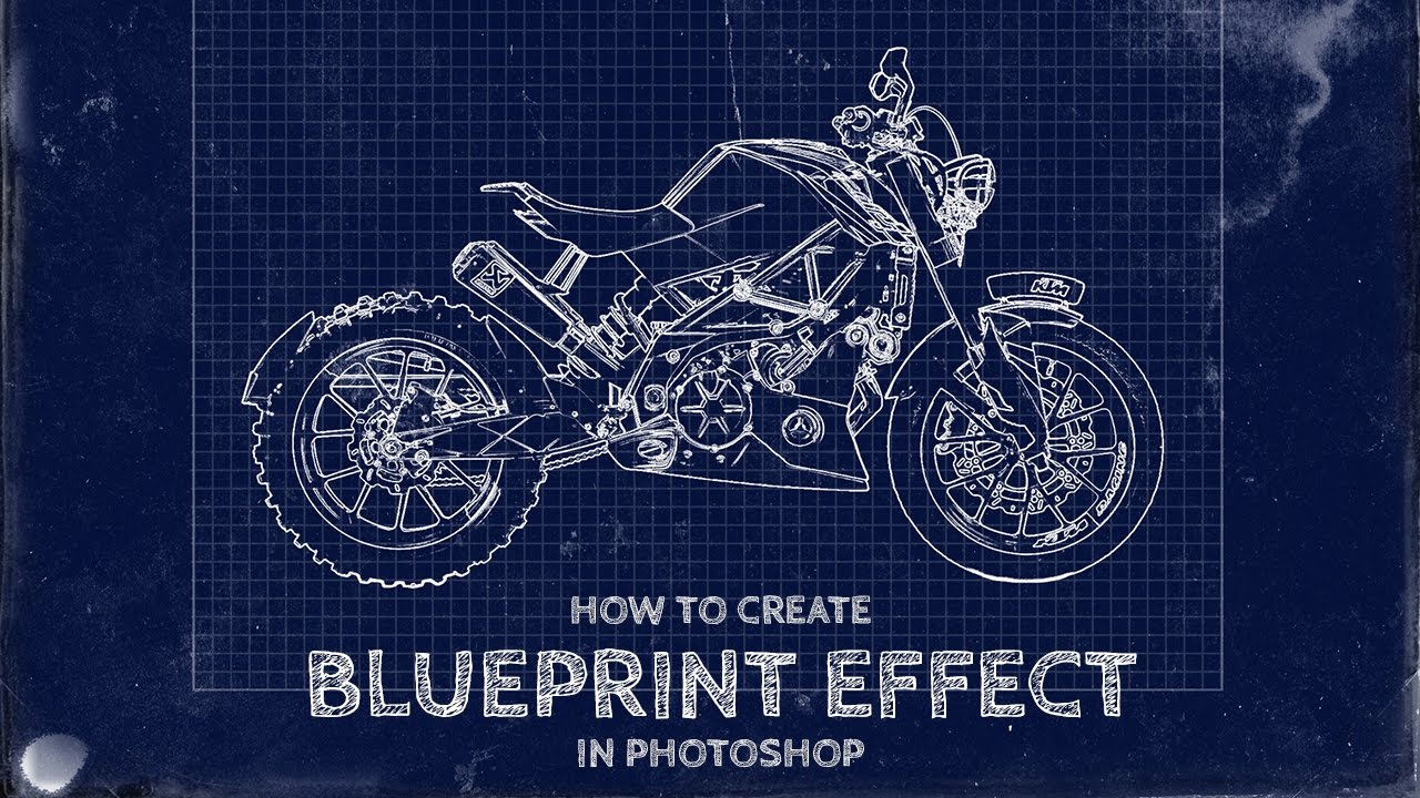 How to create a fake blueprint effect in photoshop youtube for Buy blueprint paper