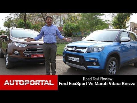 Maruti Vitara Brezza vs Ford Ecosport Comparison Review- Auto Portal