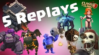 Best Th9 War Base 2017 Anti 2 Star with 5 Replays Anti Everything Anti Valkyrie Anti Gowipe