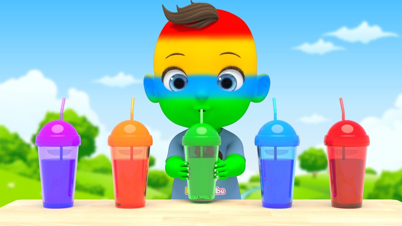 Learn Color with 5 Juice Song 색깔이 변하는 마법? 5가지 색깔 주스 장난감 라임이랑 영어동요 노래불러요 Nursery rhymes